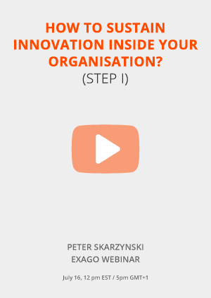 How can you sustain innovation inside your organisation?